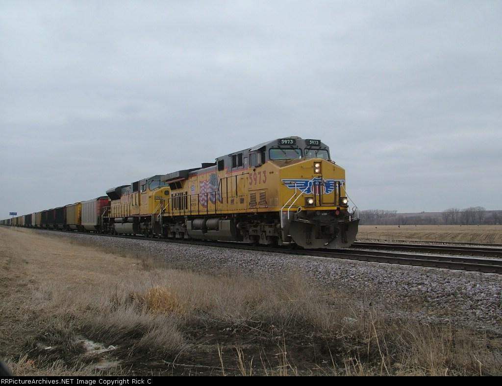 UP 5973 Leads EB Coal Loads