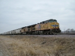 UP 5953 Leads EB Grain Hoppers