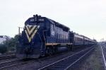 New Jersey Dept. of Transportation EMD GP-40P 4105 slows for a station stop