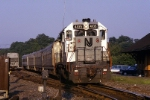 New Jersey Transit GP-40P 4105 is sweet lit as it passes the old station