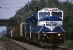 """Working east for their first time, a set of Conrail """"Superpower"""" SD-80MACs have a PIOI (Pittsburgh-Oak Island) well in hand"""