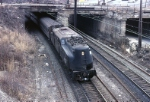 New Jersey Dept. of Transportation GG-1 4875 shows off it' roofline as its ducks under the camera