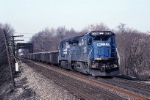 Conrail GE C-40-8 6036 totes ALOI (Allentown-Oak Island) passed the waterworks