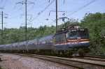 Amtrak AEM-7 914 flashes by southbound