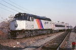 New Jersey Transit EMD F-40PH 4119 is about to leave the Lehigh Valley mainline and head down the connectiing ramp and head west on the Jersey Central (Raritan) mainline