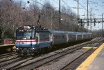 Amtrak AEM-7 916 dashes south