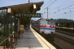Amtrak GE E-60 958 slides thru Harrison A Williams Metropark with a southbound