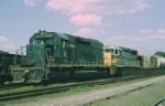 Jersey Central Lines EMD SD-40 3065 and Erie-Lackawanna EMD SD-45 3616 team up to handle ES-99 (Elizabethport-Scranton)
