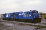 A pair of Conrail GE U-23-B's