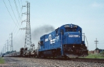 Conrail GE U-23-B 2787 has a welded rail train eastbound