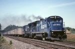 Conrail GE B-36-7 5013 and partner have RR-262 (Roadrailer) running the last miles into the Portside Terminal