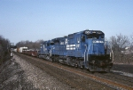 Conrail GE C-40-8 6049 and EMD SD-40-2 6516 power today's PIOI (Pittsburgh-Oak Island)