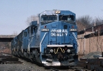Conrail GE C-40-8W 6238 heads a lite engine move south on the River Line