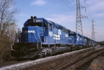 Conrail EMD SD-40 6263 heads up an ENS 171 on it's way to Allentown