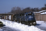 Conrail EMD SD-40-2 6461 slows up for the signal at CP-5 with SENS (Selkirk-Norfolk Southern)