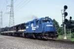Conrail EMD GP-38 7725 has five Southern Railway SD-35's in tow. The Southern units have an appointment with the torch at Naporano Iron & Metal in Newark, N.J.