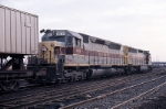Erie-Lackawanna EMD SD-45-2 3671 & EMD SDP-45 3639 bring their piggyback train into the yard