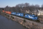 Conrail SD-40-2 6431 rolls the OJT (Tropicana Orange Juice) east