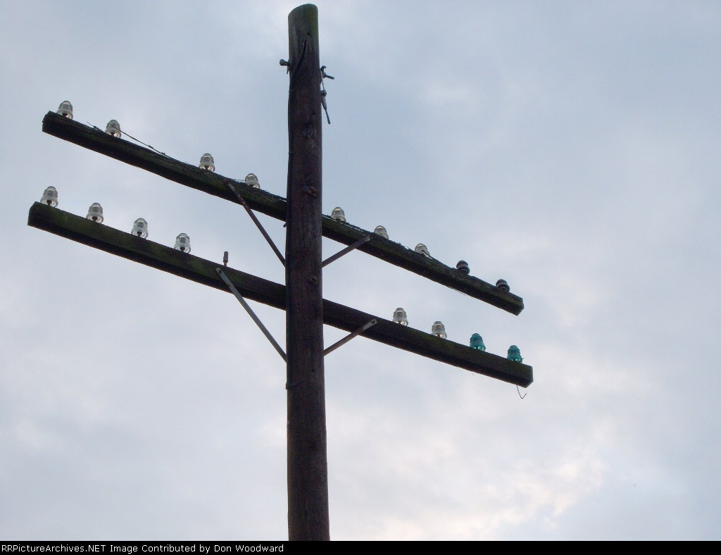 Abandonded railroad pole