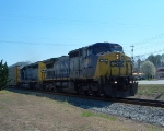 CSX 7860 & 8113 head North on the Etowah Sub at MP 377 Jackson Lake/Chatsworth
