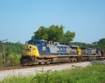 CSX 136 & 519 Southbound leading a long coal train