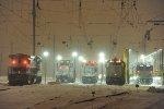 A snowy night at Race Street