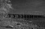 Amtrak crossing the Delaware