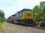 CSX X176-15 Baretable train