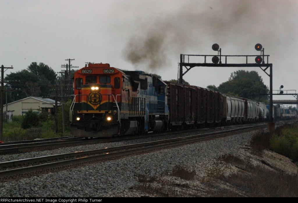 M-GYIGAL pulls train up grade