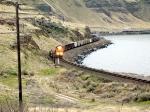 BNSF 9374 leading a NB mty coal train.