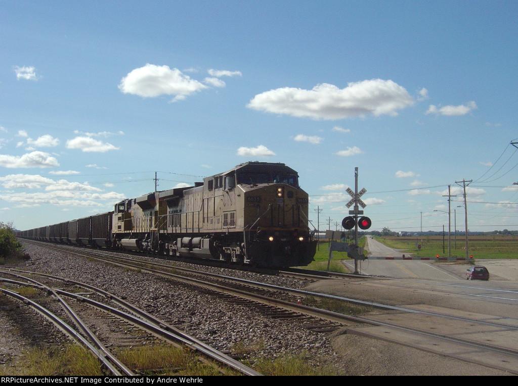 UP 6635 leads the Sheboygan coal loads
