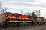KCS 3909 trailing on a UP coal train