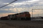 BNSF 6749 on a parked westbound train
