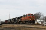 A motley mix of BNSF, NS and CSX powers the eastbound crude