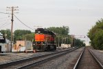 BNSF 2003 sits idle on a pleasant Sunday evening
