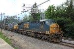 CSX trio hauls a WB ethanol train on the BNSF