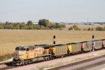 UP 6946 pushing on the coal loads in DPU mode