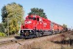 CP 5008 departs westbound