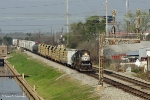 NS to CN transfer returning to NS's Oliver Yard in New Orleans at Frenchman Street