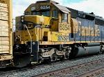 BNSF 6354 idles on a siding