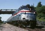 Amtrak EMD FL-9 486 slams by the camera with a southbound
