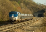 Amtrak GE P32AC-DM 702 powers a northbound