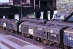 Penn-Central EMD  FL-9's conregate between runs