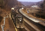Penn-Central EMD GP-40 3105 is southbound with a mixed freight bound for Tarrytown