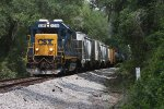 CSX 4318 leads train A781-14 west past mile post AS 725
