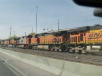 BNSF 5401 #5 power in an EB manifest at 4:12pm