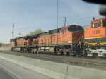 BNSF 5177 #2 power in an EB manifest at 4:12pm