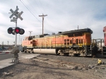 BNSF 4641 leads in a light power move at 7:57am