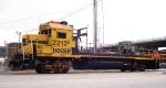 Hoodless, truckless BNSF 2212
