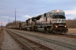 NS 631 NS 7216 SD80MAC at sunset